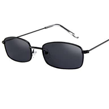 1dfdbdeba19e9 DAYLIN Women Men Unisex Vintage Glasses Classic Popular Square Shades Small  Rectangular Frame Sunglasses (A)  Amazon.co.uk  Clothing