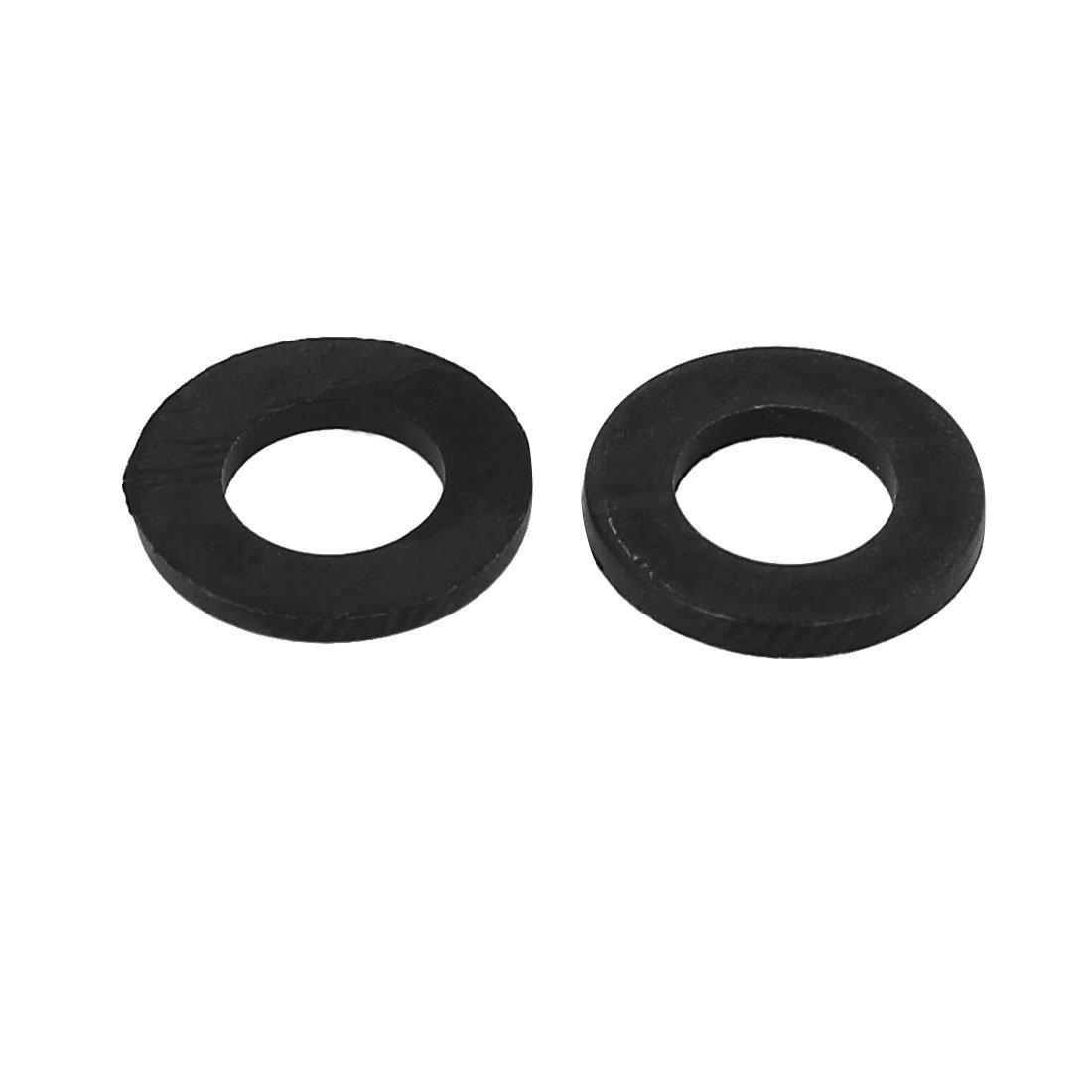 sourcingmap/® M6 x 12mm x 1.2mm entretoises rondelles plats nylon noir fixation joints 100PCS
