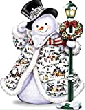 KYRRELY 5D Full Drill Diamond Painting Kit, Rhinestone Cross Stitch Snowman Christmas Embroidery Art Craft Supply for Home Wall Decor (Snowman, 25x35cm)