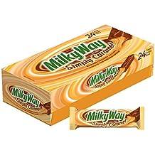 MILKY WAY Simply Caramel Milk Chocolate Singles Size Candy Bars 1.91-Ounce Bar 24-Count Box