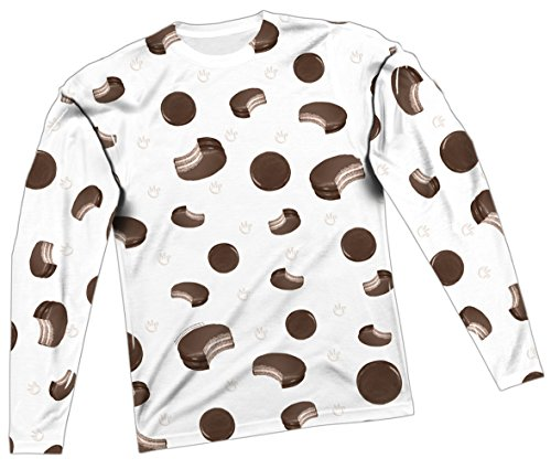 Sporadic Moon Pies -- Moon Pie All-Over Long-Sleeve T-Shirt, X-Large -