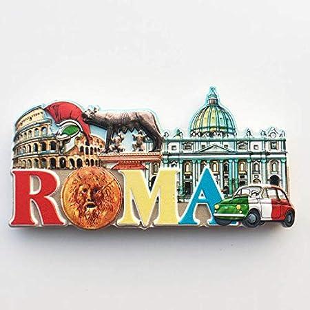 Hongma Imán Nevera Roma Italia Coliseo 10,4cmx5,7cm para Recuerdos de Turistas Decoración del Hogar