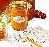 Bormioli Rocco Quattro Stagioni Canning Label, Set of 30