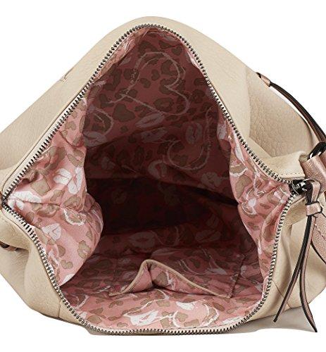 Sintético CAMINATTA V163 y Cierre Interiores Exterior Modelo Cremallera Mochila Cómodo Práctico 30x27x13 Baltimore Mujer y Beige Bolsillos 7rnrxE6qw