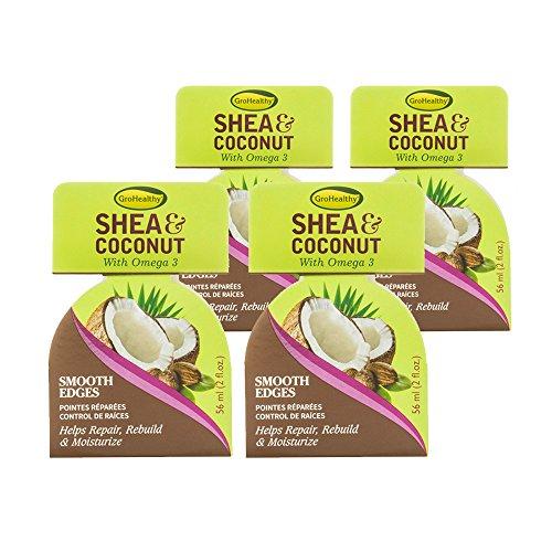 Repair 3 Omega (GroHealthy Shea & Coconut Smooth Edges Hair Repair Treament (2 oz) pack of 4)