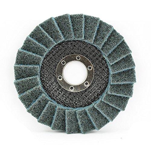 5 Pack 4-1/2'' x 7/8'' Black Hawk Surface Conditioning Grinding, Sanding, Polishing Flap Discs T29 (Blue - Fine)