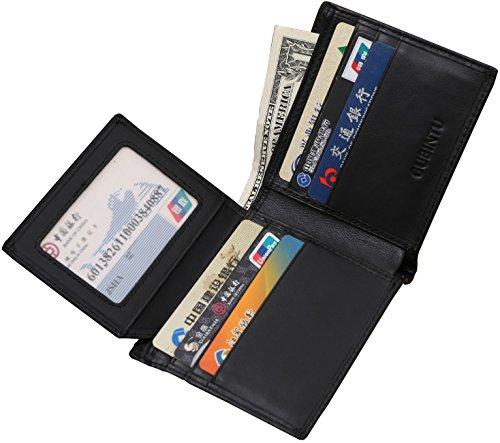 VRLEGEND Men Wallet RFID Blocking Genuine Leather Credit Card Protector Slim Billfold