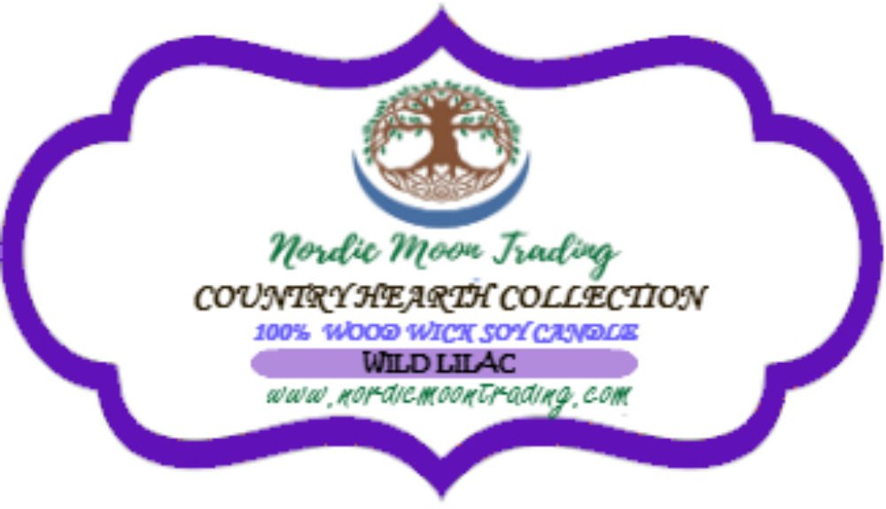 Nordic Moon Trading 100% Natural Soy Wax, Wood Wick Scented Candle 12 oz Mason Jar - Wild Lilac. Made in USA by Family Owned Business. 100 Hours of Burn Time. Clean Burning, No Black Soot. by Nordic Moon Trading (Image #4)