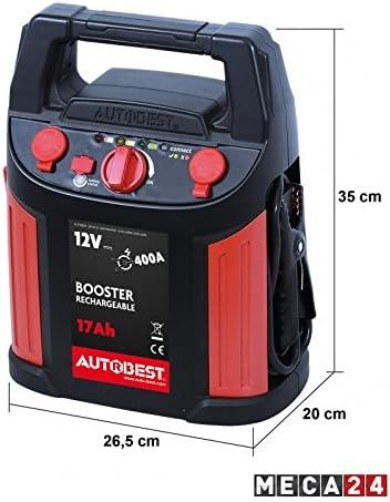 Booster de batterie 17 Ah fonction aide au d/émarrage 400 A
