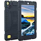TabPow All-New Fire 7 Tablet (7th Gen, 2017) Light Weight Easy Grip Child-Proof Protective Kids Case Cover For Fire 7 Tablet (7th Gen, 2017) & Fire 7 (5th Gen, 2015) -Black