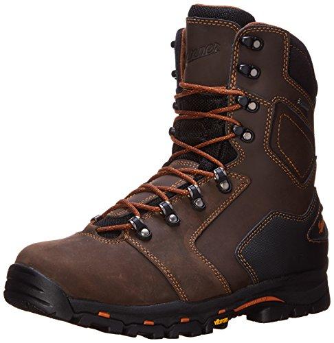 Danner Men's Vicious 8 Inch Work Boot,Brown/Orange,11.5 EE US
