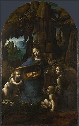 'Leonardo Da Vinci The Virgin Of The Rocks ' Oil Painting, 30 X 47 Inch / 76 X 120 Cm ,printed On Polyster Canvas ,this Cheap But High Quality Art Decorative Art Decorative Prints On Canvas Is Perfectly Suitalbe For Gym Decor And Home Decoration And (Sandy The Squirrel Costume)