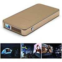 DLP Projector - Gold 1080P HD Scratch-Resistant Explosion-Proof DLP Projector