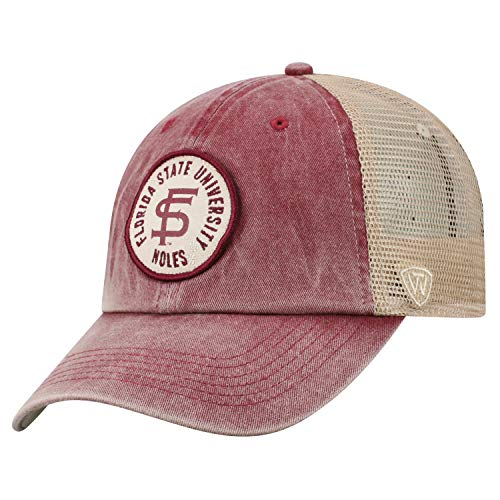 Ncaa Florida State Seminoles Mesh - Top of the World Florida State Seminoles Official NCAA Adjustable Keepsake Soft Mesh Cotton Hat Cap 428543