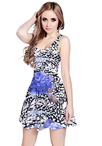 CowCow - Vestido - para mujer Blue Roses