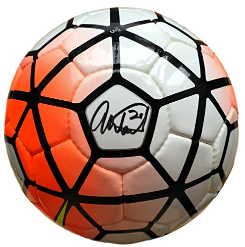 Abby Wambach Team USA Signed Authentic Full Size Orange Soccer Ball JSA (Ball Authentic)