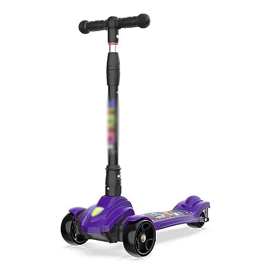 Patinete Scooter para niños Purple Purple con PU Altura de ...