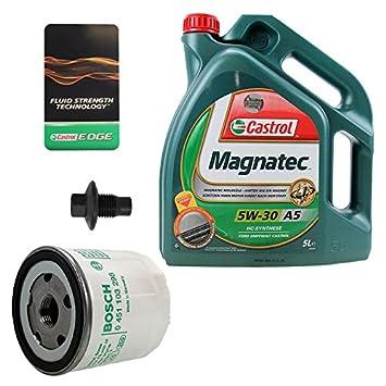 Oil Change Kit Bosch Oil Filter  L Castrol Magnatec W  A Ford Courier   Fiesta Mk  Ja Jb   Ka Rb   Amazon Co Uk Car