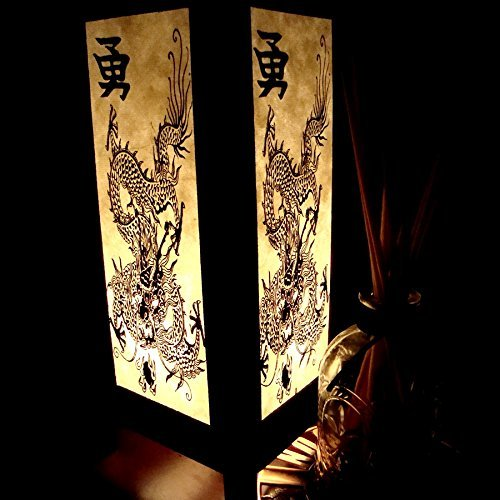 M$M shop Chinese Dragon White Black Table Lamp Lighting Shades Floor Desk - Japanese Optical Frames