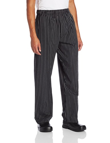 Dickies Men's Big and Tall Traditional Baggy with Zipper Fly Chef Pant, Chalk Stripe 4X-Large