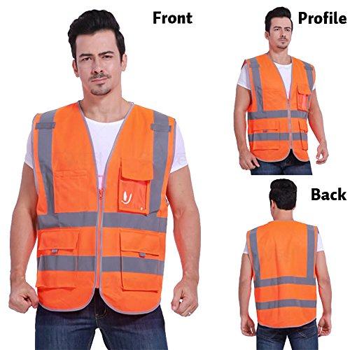 GOGO SECURITY 8 Pockets Hi Vis Safety Vest-Blue-L by GOGO (Image #5)