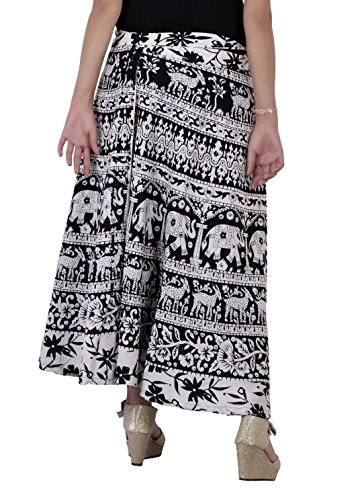 Jaipur Kala Kendra - Falda - para mujer blanco