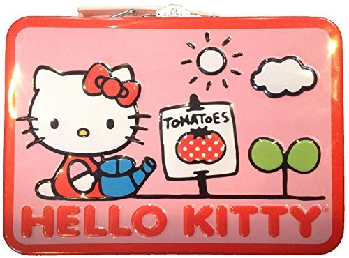 Hello Kitty Pink Tin Small Lunchbox (Tomatoes) 5.5