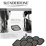 Slendertone Replacement Gel Pads for All Slendertone Abdominal Belts, 3 Sets (9 Gel Pads)