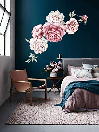 - Peony wall decals large flower wall decals flower wall decals 3d large flower wall decor vintage floral wall stickers nursery wall art decals cik2433
