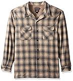 Pendleton Men's Long Sleeve Classic-Fit Board Shirt, Oxford Grey/Tan Ombre-31942, LG