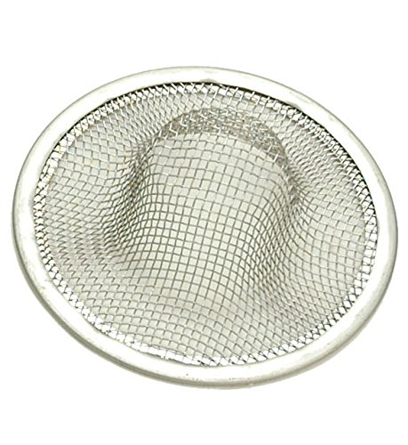 2-1/2-Inch Stainless Mesh Strainer for Bathtub & Laundry Sinks - By Plumb USA