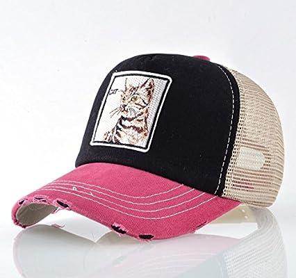 QYYDBQM Cool Sombreros Unisex Parche Gorra de béisbol Gato Mujeres ...