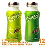 Variety Real Coconut WATER & Coconut WATER WITH PULP 9.5oz, PACK 12