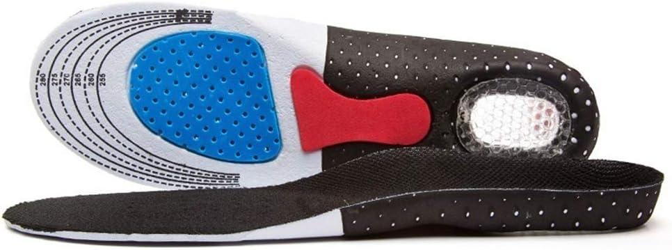 Qeedio - 1 par de plantillas de gel de silicona unisex para el cuidado de los pies para el espolón del talón Plantar, plantilla de plantilla ortopédica, negro S (35-40) Black L? 4
