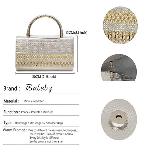 Diamonds Women Evening Clutch Gold Shoulder Handle Bags Vintage Style4 Bag Crystal Handbags Ladies For 1FXXHg