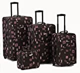 Rockland Luggage 4 Piece Luggage Set, Chocolate, One Size For Sale