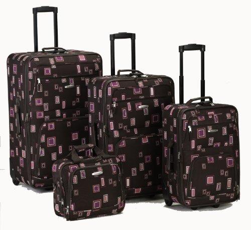 Fox Rockland Luggage 4 Piece Luggage Set, Chocolate, One ...