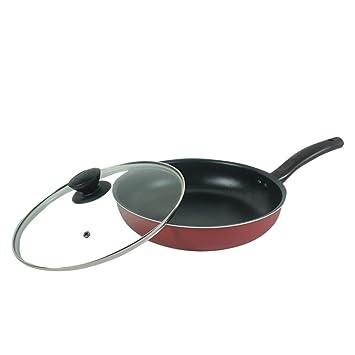 El LE sartenes, parrilla antiadherente/sartén profunda/con tapa/no tóxico/sin PFOA/con revestimiento antiadherente/Multi-Functional Cookware 11/Inch/28cm: ...