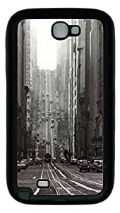 Samsung Galaxy Note II N7100 Cases & Covers - San Francisco Custom TPU Soft Case Cover Protector for Samsung Galaxy Note II N7100 - Black