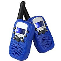 LeeKer LK-R018 Walkie Talkie for Kids 22CH LCD Display Flashlight VOX Function Two Way Radio Toys(Blue, 1 Pair)
