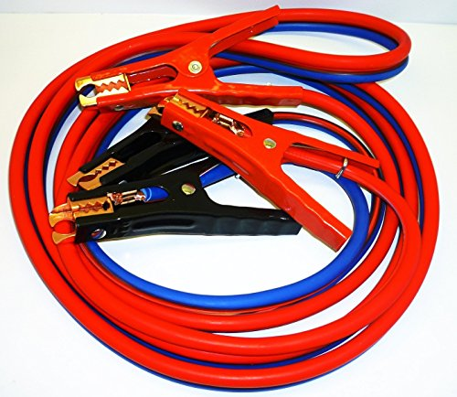 Premium Heavy Duty Jumper Booster Cables No Tangle Design (500 Amp 6 Gauge 12 Feet)