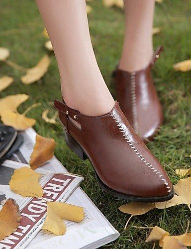 5 Xzz Zapatos Uk8 Puntiagudos Tacón Brown Y Cn39 Brown Fiesta De Bajo Eu39 Uk6 Semicuero Punta us8 Trabajo Cn43 5 Cerrada Eu4 Botas Noche Eu42 Vestido Mujer Oficina us10 Casual rrdqwH