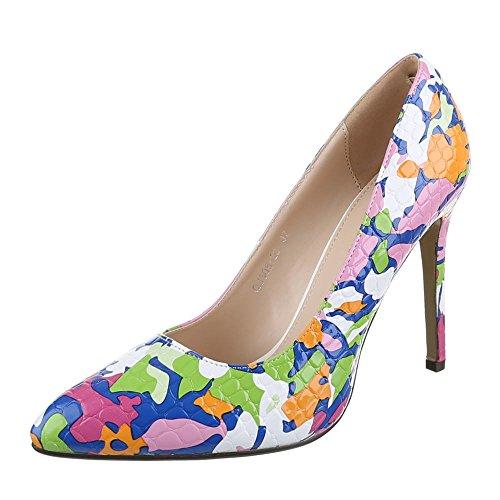Ital-Design - Zapatos de Tacón Mujer Multicolor - Pink Multi