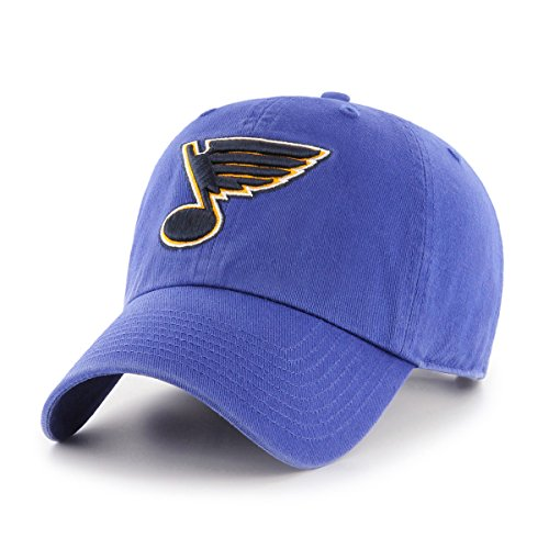 Blue Team Visor - NHL St. Louis Blues OTS Challenger Adjustable Hat, Royal, One Size