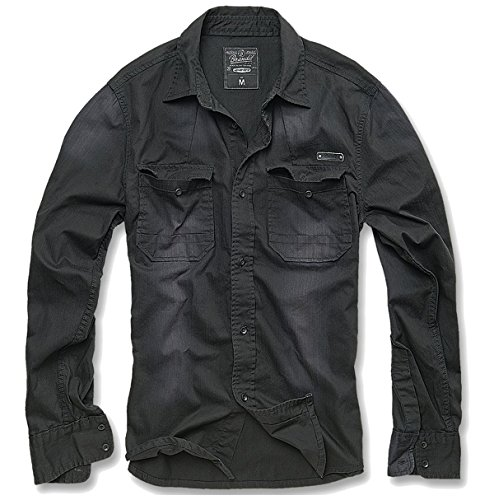 ZBED Brandit Hardee Hemd Schwarz XL