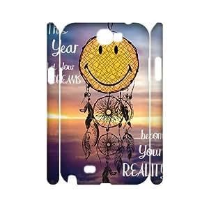 DIY Samsung Galaxy Note 2 N7100 Case, Zyoux Custom Unique 3D Samsung Galaxy Note 2 N7100 Phone Case - Cool Smiley Faces emoji