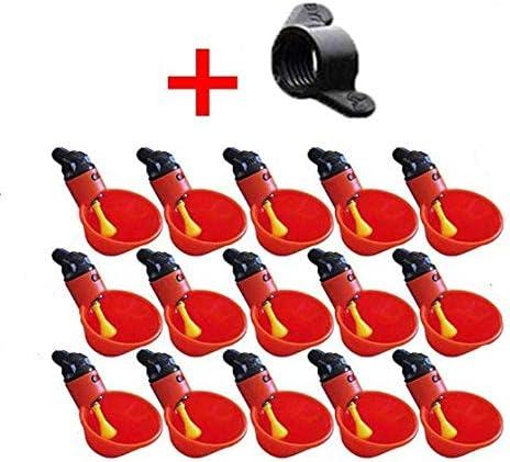 Kunststoff Gefl/ügeltr/änke Futterspender Zuchtausr/üstung f/ür H/ühner LIUSM 15 St/ück H/ühner-Wasserschalen mit N/üssen Wachteltr/änke V/ögel