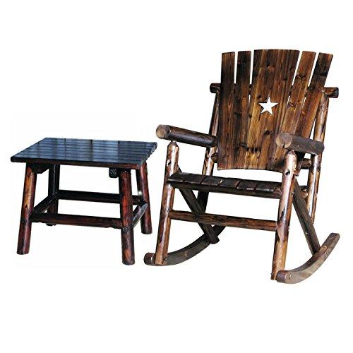 Combo Rocker Single (Char-Log Single Rocker Chair and End Table (Combo))