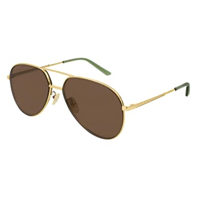 038ca54e36797 Image Unavailable. Image not available for. Color  Gucci GG0356S Sunglasses  002 Gold ...