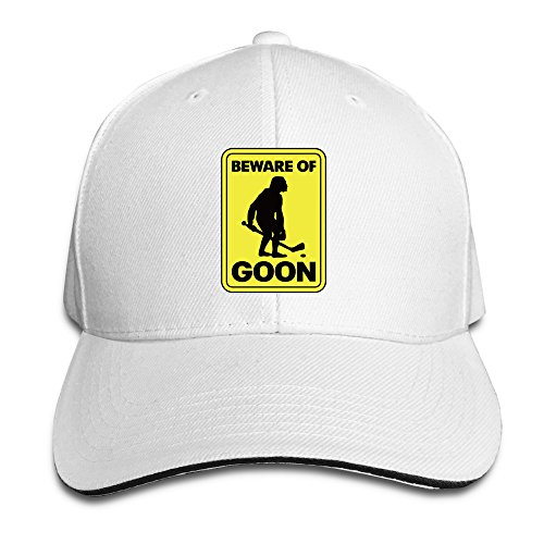 Beware Of Goon Hockey Trucker Unisex Adjustable Sandwich Cap White (Make Bishop Dress)